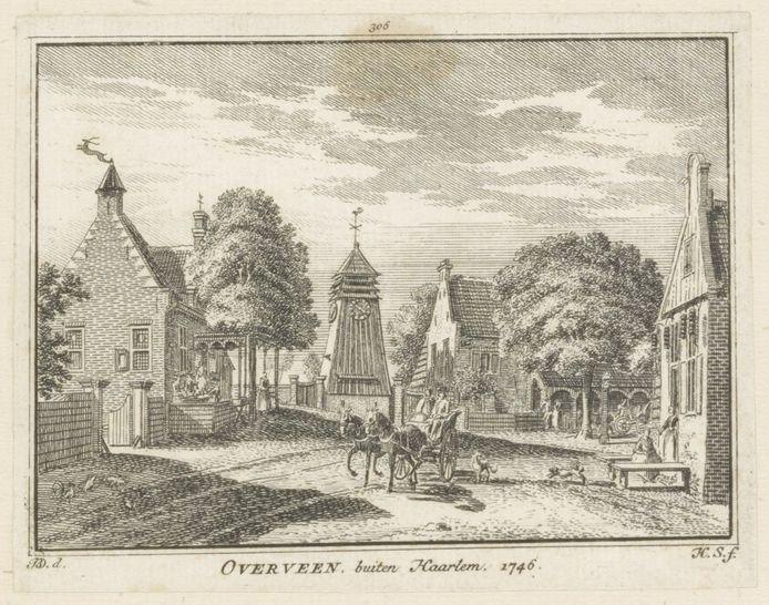 De oude klokkentoren op kruispunt Zijlweg/Bloemendaalseweg (1746)
