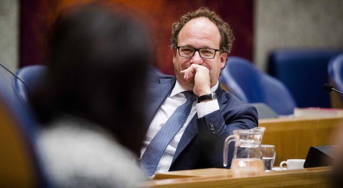 Minister Wouter Koolmees van Sociale Zaken en Werkgelegenheid (D66) in de Tweede Kamer.