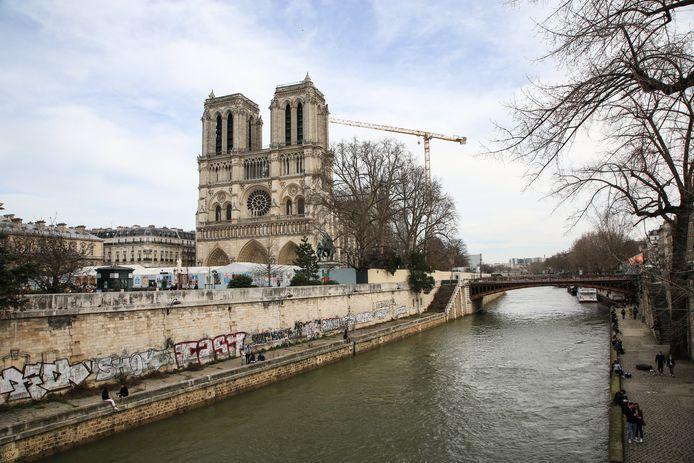 La cathédrale Notre-Dame de Paris, en février.