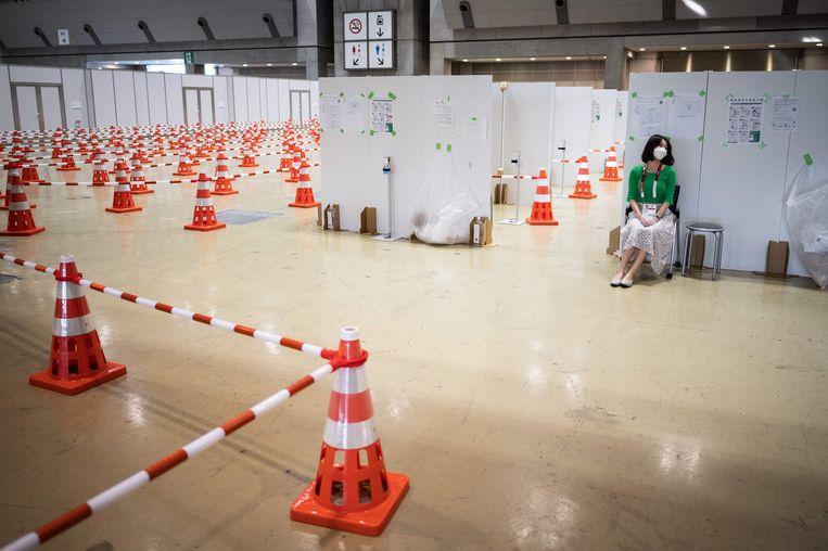 Een testlocatie bij de Olympische spelen in Tokio. Beeld AFP