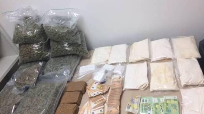 Drugs met straatwaarde van 330.000 euro aangetroffen bij zes huiszoekingen