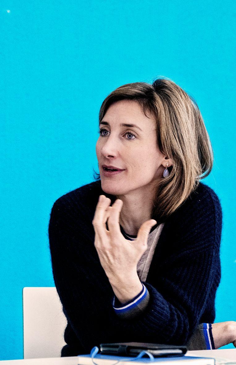 Belgie, Brussel, 20/1/2021 Isabel Leroux-Roels: 'Rusthuisbewoners beschermen is de snelste en meest efficiënte manier om de druk op de zorg te verlichten.'   Beeld Tim Dirven