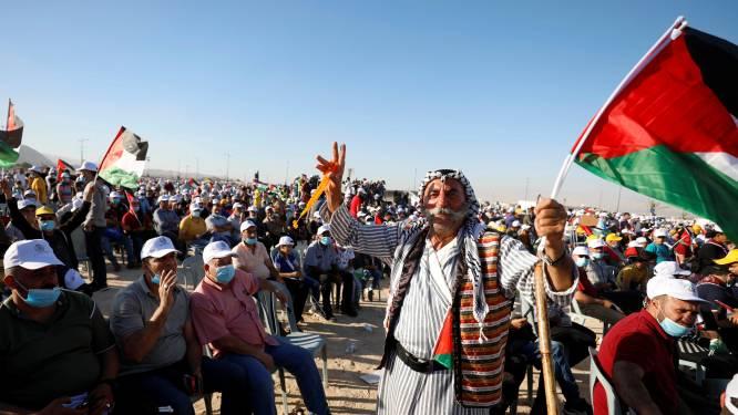 Duizenden Palestijnen demonstreren tegen annexatie door Israël
