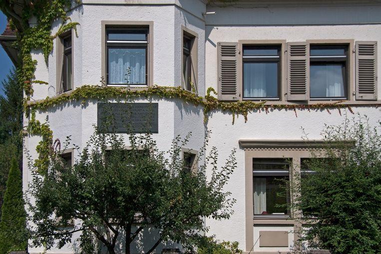 Het voormalige huis van de familie van Anne Frank in Frankfurt. Beeld Shutterstock