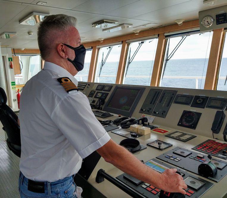 Kapitein Kees Wiersum. Beeld