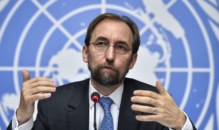 VN-hoogcommissaris voor de mensenrechten, de Jordaniër Zeid Ra'ad Al Hussein. Beeld AFP