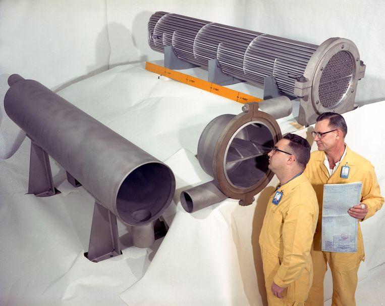 Technici in de Oak Ridge National Laboratory.  Beeld Oak Ridge National Laboratory