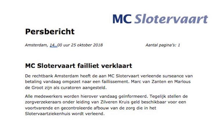null Beeld Persbericht MC Slotervaart