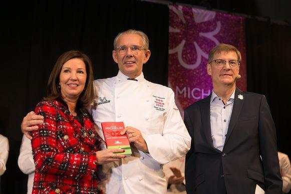 Peter Goossens en zijn vrouw krijgen opnieuw drie Michelin-sterren.