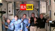 HLN LIVE. De eerste groepsfoto: astronauten van Crew Dragon verwelkomd in ruimtestation ISS