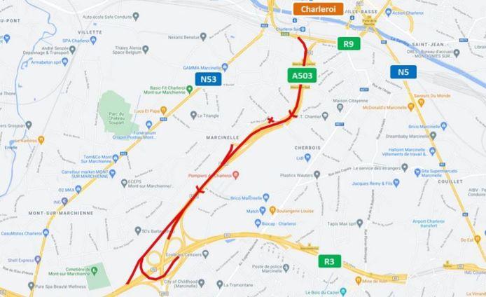Travaux A503 à Charleroi