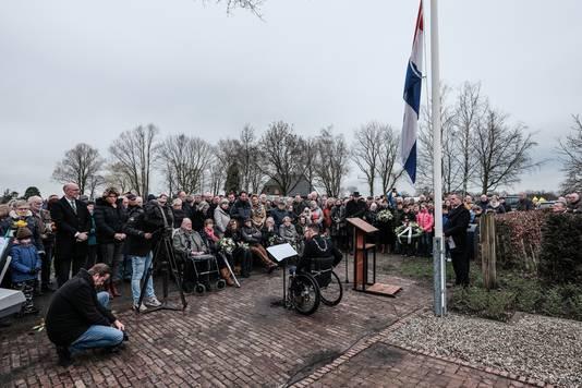 Otwin van Dijk, burgemeester van Oude IJsselstreek, houdt zijn toespraak. Foto: Jan van den Brink