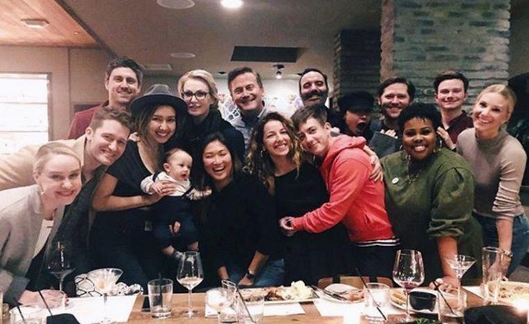 De castleden van 'Glee' voor het eerst in lange tijd weer samen.