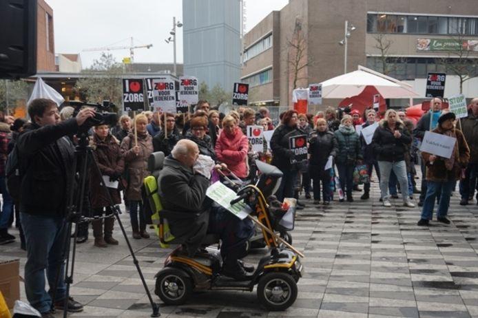Protest op het Pieter Vreedeplein