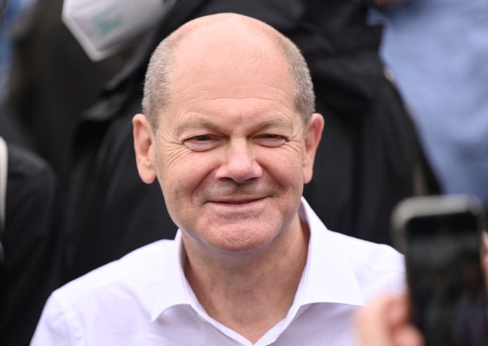 Olaf Scholz, kandidaat van de SPD.