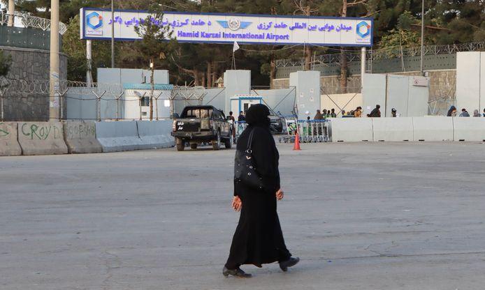 Het Hamid Karzai International Airport in Kaboel.