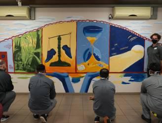 """Gedetineerden zijn trots op eigen muurkunstwerk: """"Je kan er zowel brug te ver als brug naar de vrijheid in zien"""""""
