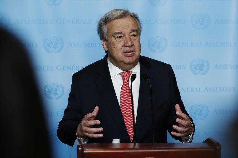 Antonio Guterres.  Beeld REUTERS