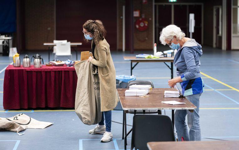 Een stemlocatie in de Jan Massinkhal in Nijmegen. Beeld ANP