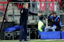 Verbeek als coach bij FC Twente.