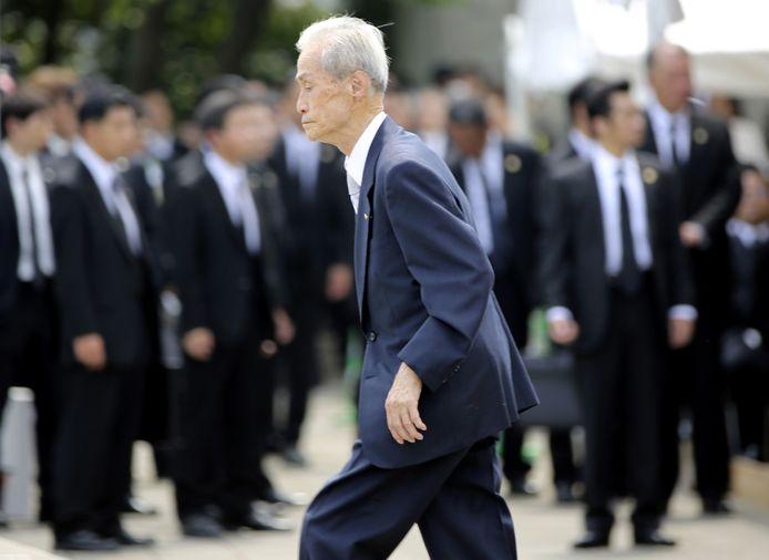 Sumiteru Taniguchi, de 86-jarige overlever van de atoombom.