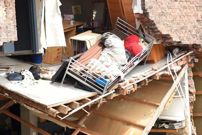 Une habitation partiellement détruite à Pepinster.