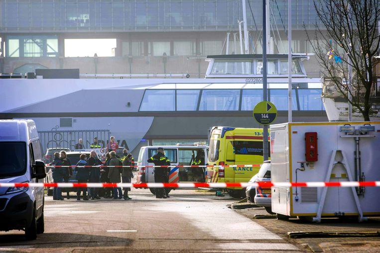 In maart 2018 werd de broer van kroongetuige Nabil B. doodgeschoten in zijn bedrijf in Amsterdam-Noord door een man die zich had voorgedaan aan sollicitant. Beeld MICHEL VAN BERGEN/ANP