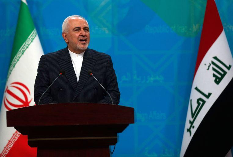 De minister van buitenlandse zaken Mohammad Javad Zarif klapte uit de school tijdens een interview.  Beeld AFP