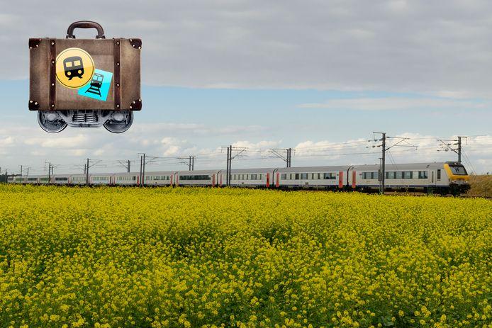 Een trein op het traject tussen Luik en Leuven.