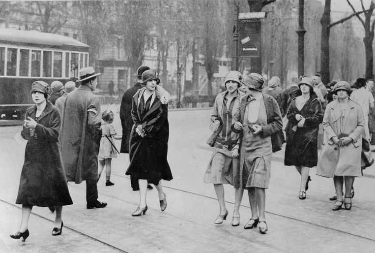 De Kurfürstendamm in Berlijn, 1926. Beeld Getty Images