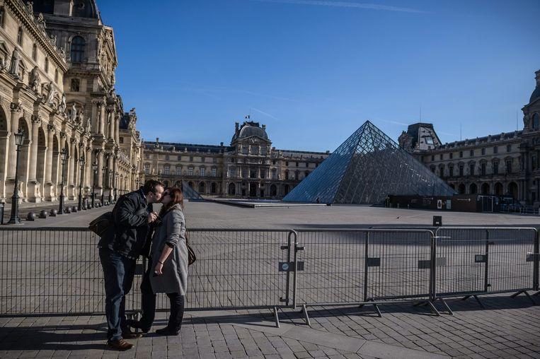 Ook het Louvre was dicht dit weekend Beeld epa