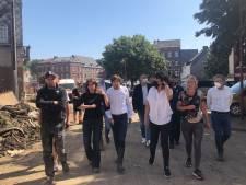 """Elio Di Rupo et Christie Morreale en visite à Verviers: """"Ce qui s'est produit dépasse l'entendement"""""""