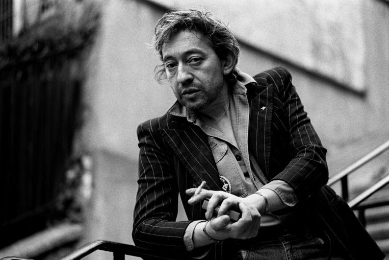 Serge Gainsbourg in 1980 in Parijs. Beeld Getty Images