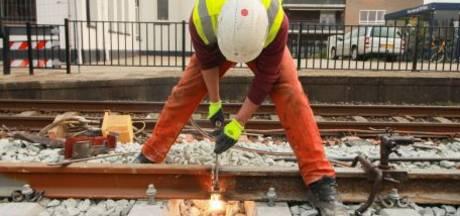 Vernieuwing van spoor Maaslijn bij Cuijk vordert