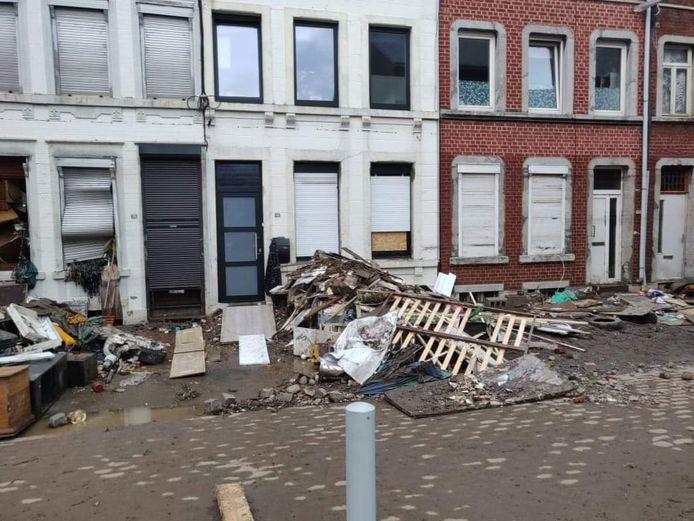 La ville de Verviers a été fortement touchée par les intempéries.