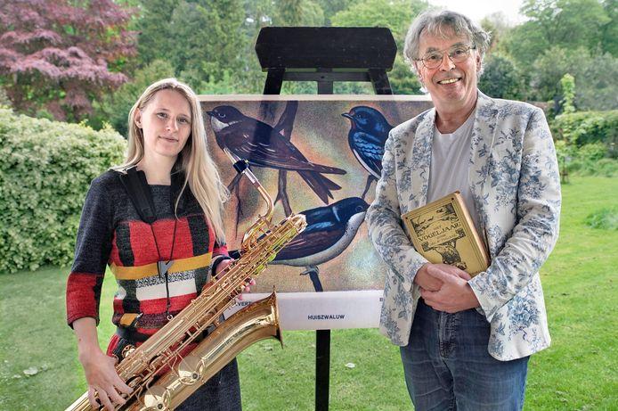 Inga Rothammel en Frank Nielander gaan proberen vogels bij hun improvisaties te betrekken.