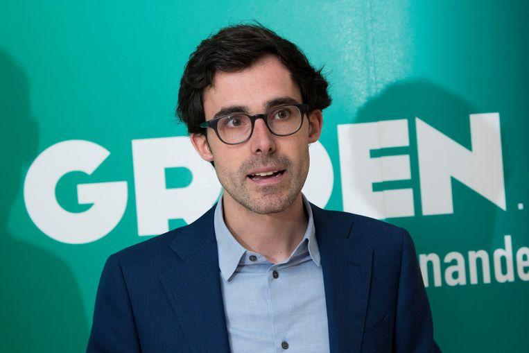 Kristof Calvo reiktte bij monde van zijn partij de hand uit naar CD&V. 'Waarom is het voor CD&V zo moeilijk om te zeggen: We doen het liever met Groen?' Beeld Photo News