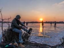 Waterschap waarschuwt: ga niet schaatsen in de uiterwaarden!