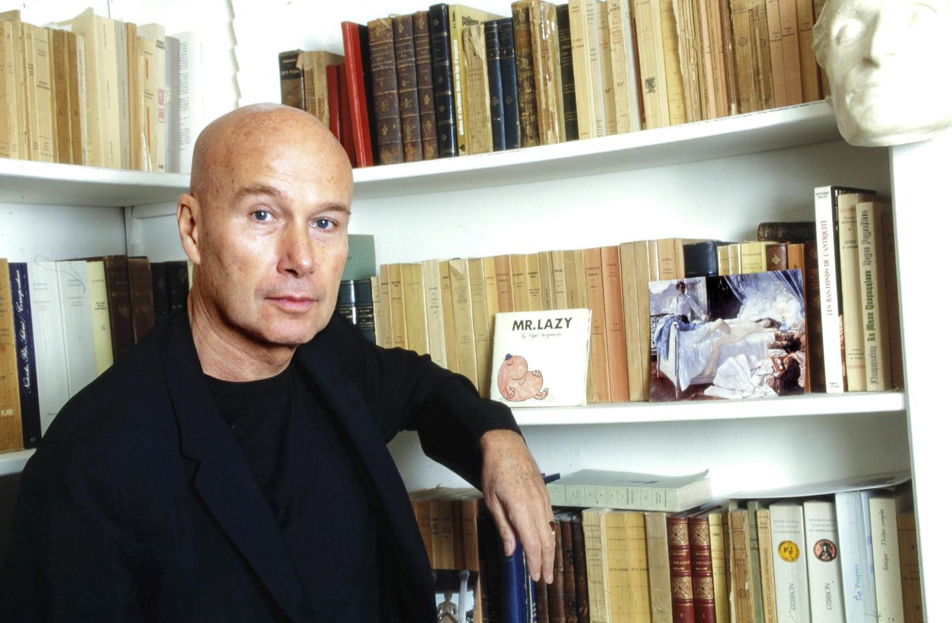 Gabriel Matzneff à son domicile à Paris le 16 novembre 1995. © Cédric Perrin / Bestimage