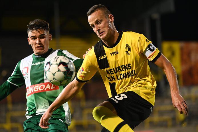 Lierse-kapitein Ben Santermans tijdens een voorgaande ontmoeting met zijn ex-club Lommel.