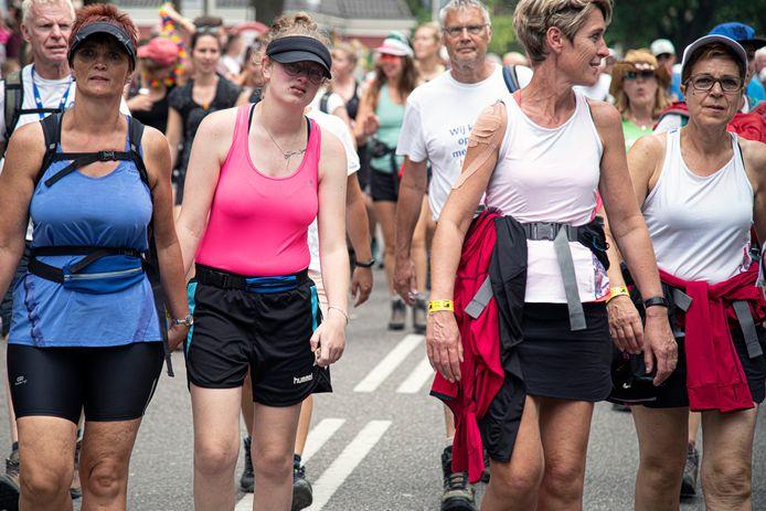 Vrouwen kunnen bij de Vierdaagse zich beperken tot 40 kilometer per dag.