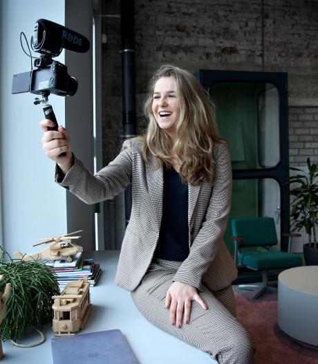Lieke (24) leert bedrijven vloggen: 'Het is meer dan een camera voor je neus houden en filmen maar'