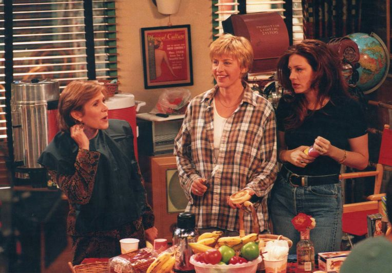 (7) Ellen DeGeneres (M) als Ellen in de sitcom Ellen (1997). Beeld Getty Images
