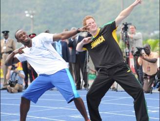 Usain Bolt plant afterparty met prinsen Harry en William