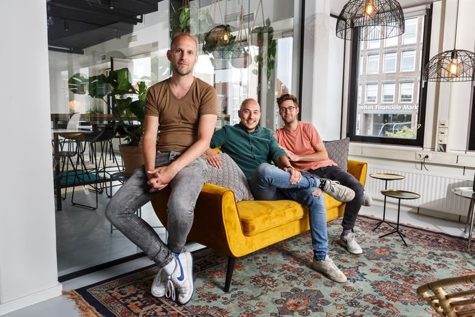 Koen Droste, Job Harmsen en Niek Bokkers van reisapp Polarsteps.