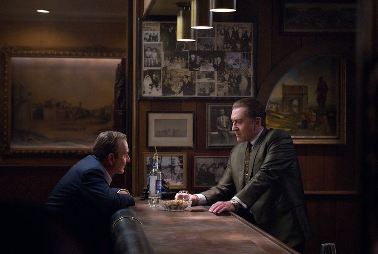 Joe Pesci en Robert De Niro in 'The Irishman'.  Beeld AP