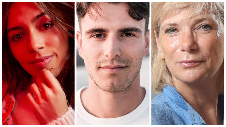 Flo Windey, Conner Rousseau en Lynn Wesenbeek. Beeld RV