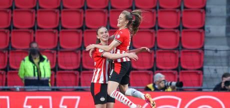 Vrouwen PSV weten het doel makkelijk te vinden bij debuut in Philips Stadion