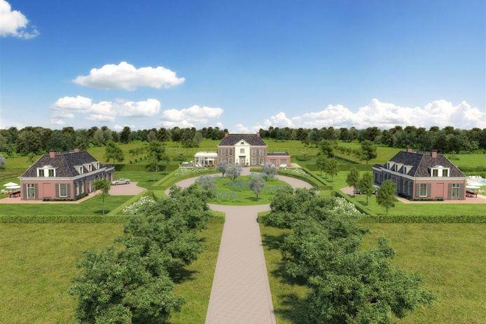 Zo gaat Landgoed 't Lot, in het buitengebied van Moergestel, er niet langer uitzien. Voor statige landhuizen blijkt geen makrt te zijn.