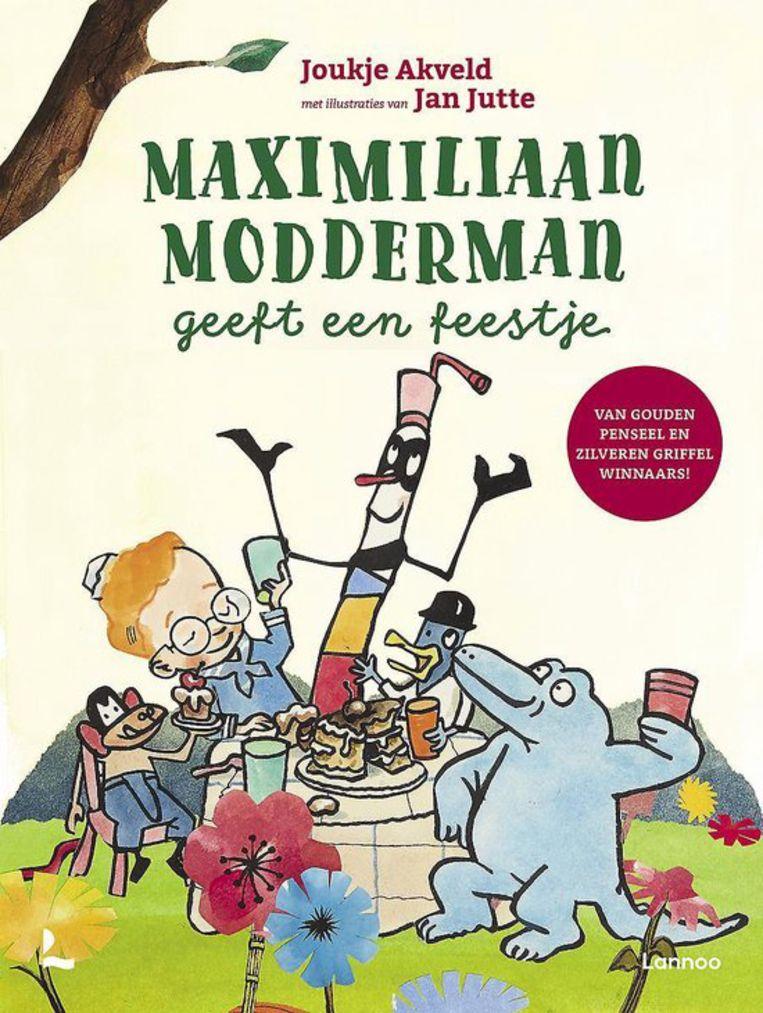 Maximiliaan Modderman geeft een feestje met illustraties van Jan Jutte, Lannoo, € 14,99. Beeld